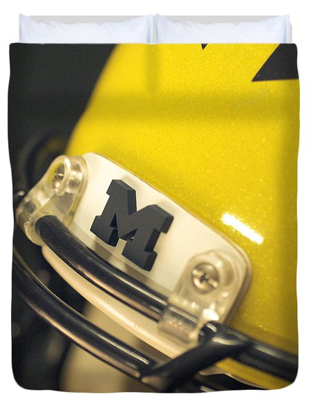 Michigan M Duvet Cover