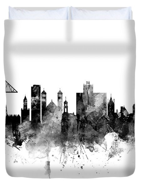 Middlesbrough England Skyline Duvet Cover