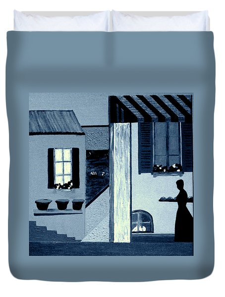 Midnight In Limoux Duvet Cover