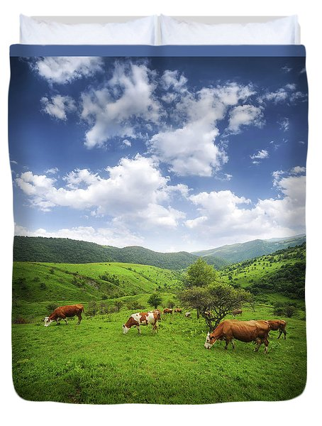 Duvet Cover featuring the photograph Milka by Bess Hamiti