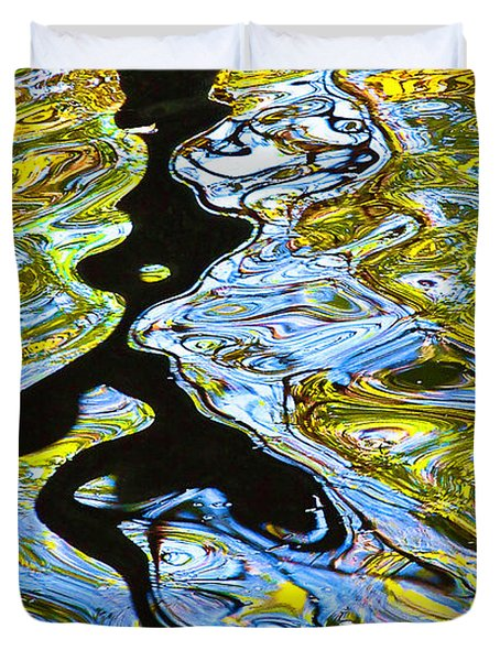 Duvet Cover featuring the photograph Mill Pond Reflection by Tom Cameron