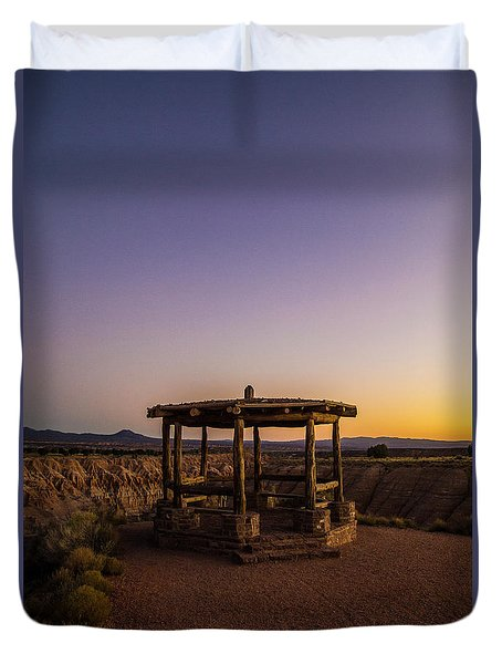Cathedral Gorge Gazebo Duvet Cover