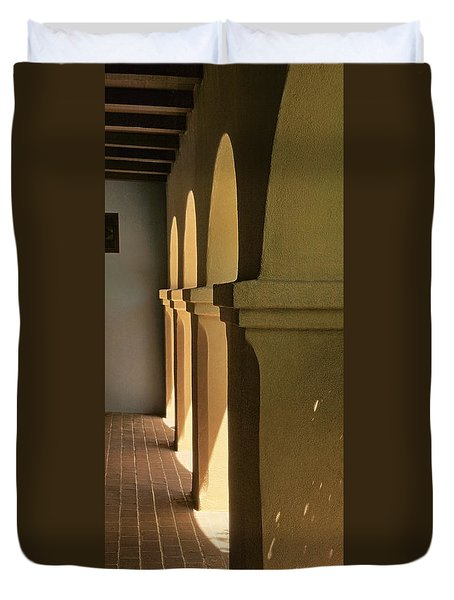 Mission Arches Pano Tnt Duvet Cover