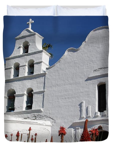 Mission San Diego Duvet Cover