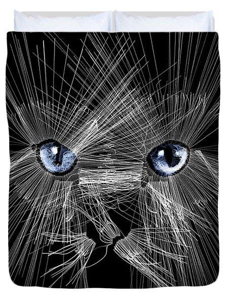 Mister Whiskers Duvet Cover