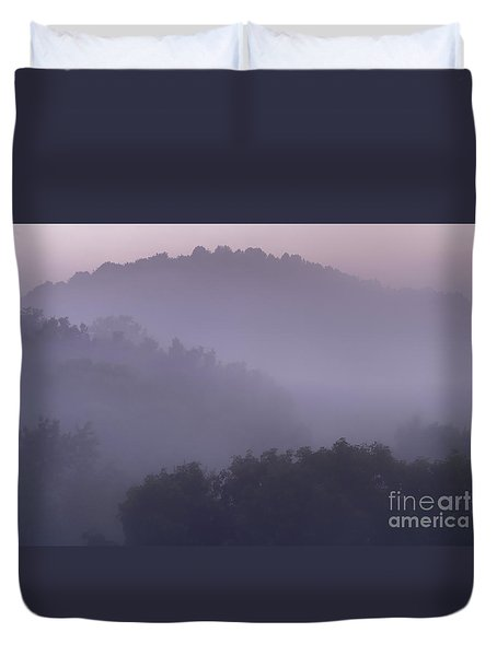 Misty Mountain Morning Duvet Cover by Thomas R Fletcher