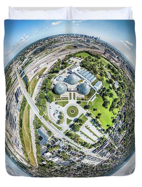 Duvet Cover featuring the photograph Mitchell Park Domes by Randy Scherkenbach