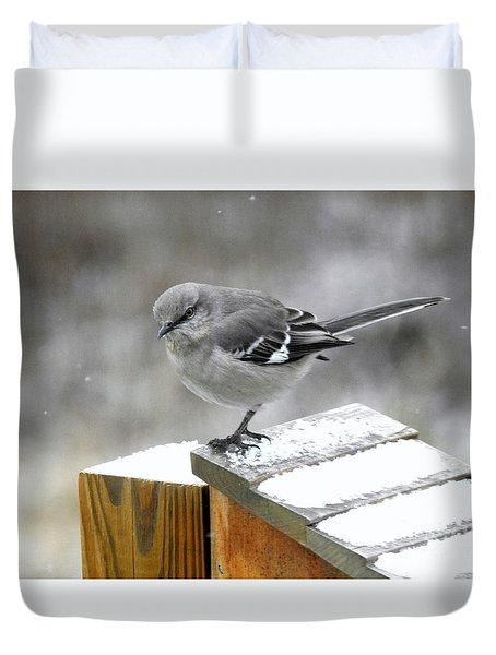 Mockingbird  Duvet Cover by Brenda Bostic