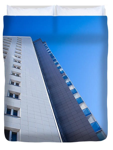 Duvet Cover featuring the photograph Modern Apartment Block by John Williams