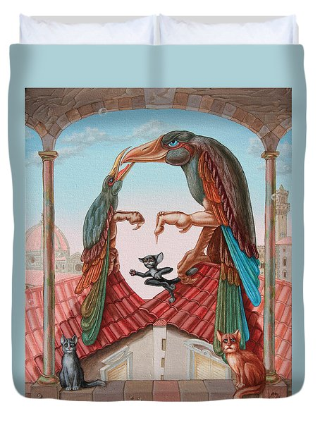 Mona Lisa. Air Duvet Cover