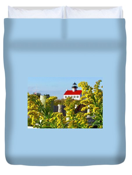 Monarch At East Point Light Duvet Cover