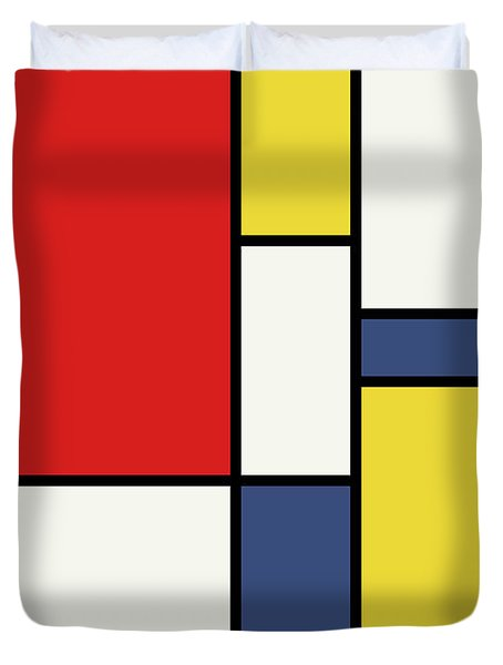 Mondrian Inspired Duvet Cover