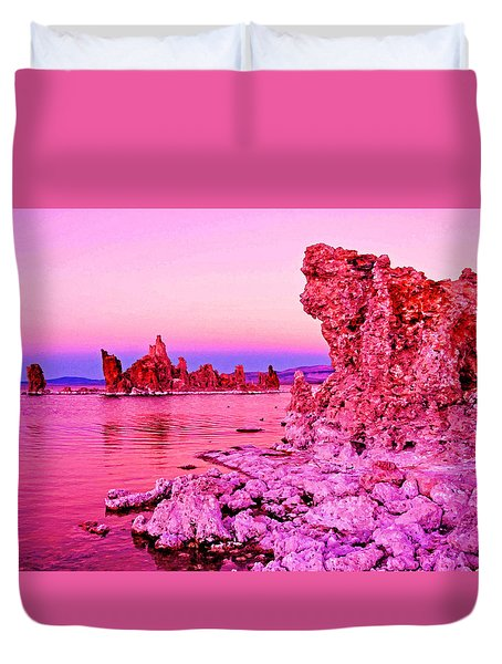 Mono Lake Dawn Duvet Cover by Dennis Cox