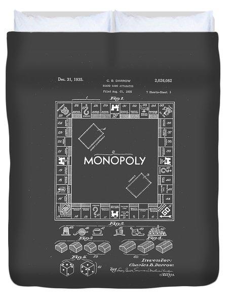 Monopoly Original Patent Art Drawing T-shirt Duvet Cover