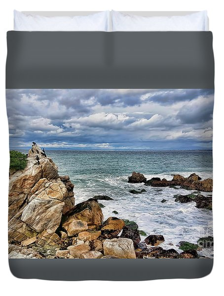 Duvet Cover featuring the photograph Monterey Bay by Gina Savage