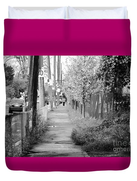 Montreal Street Photography Duvet Cover