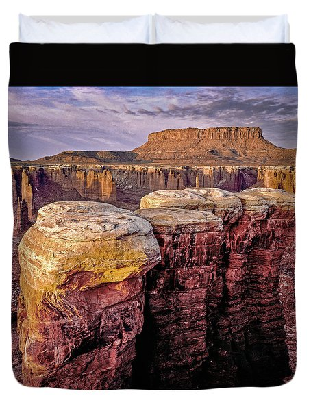 Monument Basin, Canyonlands Duvet Cover