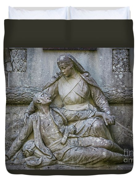 Duvet Cover featuring the photograph Monument To The Duchess Of Victory Genoves Park Cadiz Spain by Pablo Avanzini