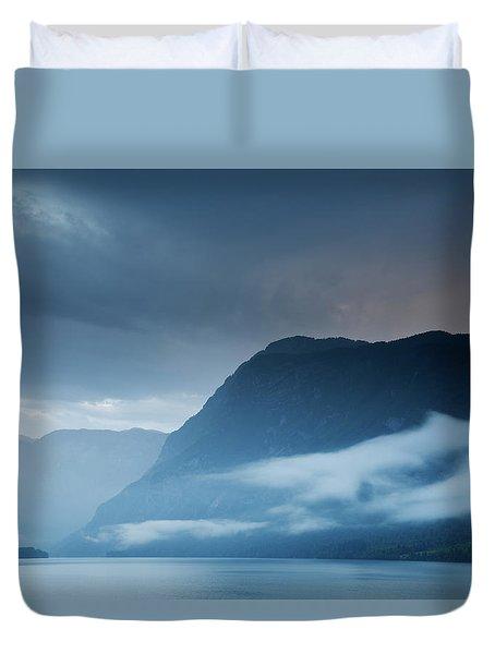 Moody Lake Bohinj Duvet Cover