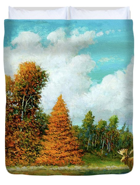 Moose Country Duvet Cover
