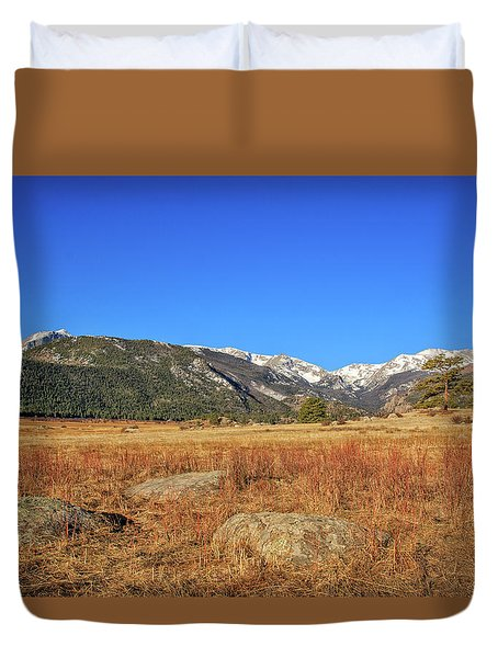 Moraine Park In Rocky Mountain National Park Duvet Cover