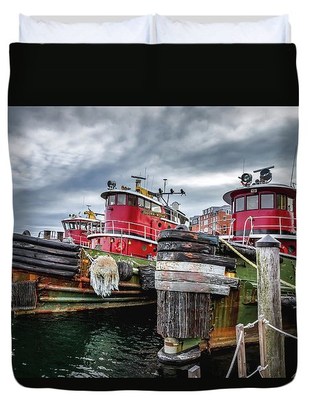 Moran Towing Tugboats Duvet Cover