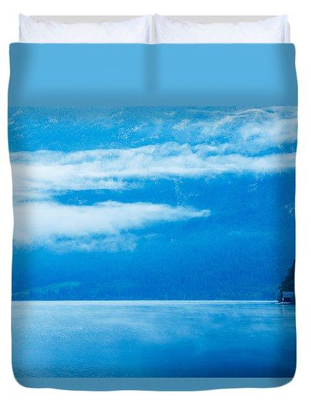 Morning At Lake Bohinj In Slovenia Duvet Cover