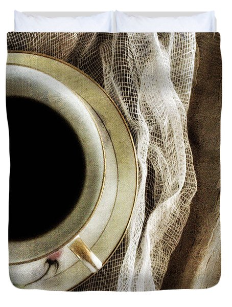 Morning Coffee Duvet Cover by Bonnie Bruno