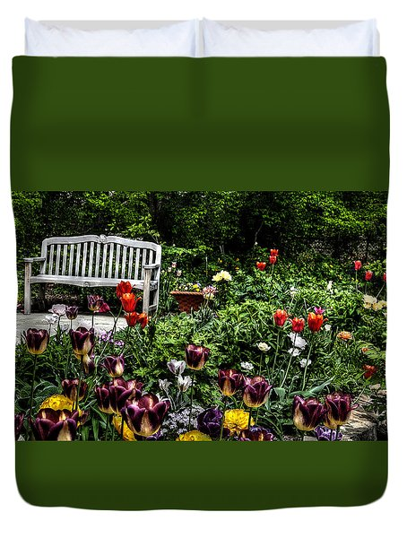 Duvet Cover featuring the photograph Morning Glory by Deborah Klubertanz