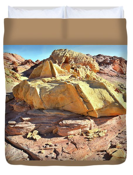 Morning In Wash 3 In Valley Of Fire Duvet Cover