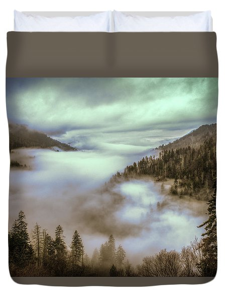 Morning Mountains II Duvet Cover