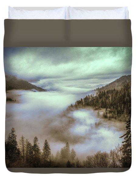 Morning Mountains II Duvet Cover
