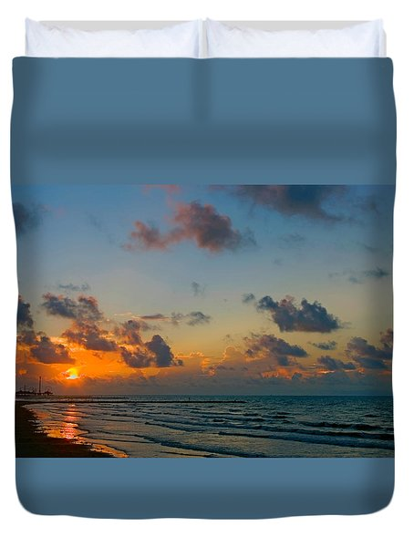 Morning On The Beach Duvet Cover