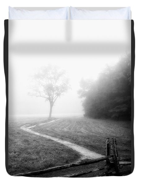 Morning Path Duvet Cover by Deborah Scannell
