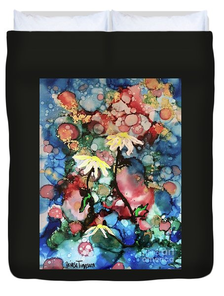 Duvet Cover featuring the painting Mothers Day by Denise Tomasura