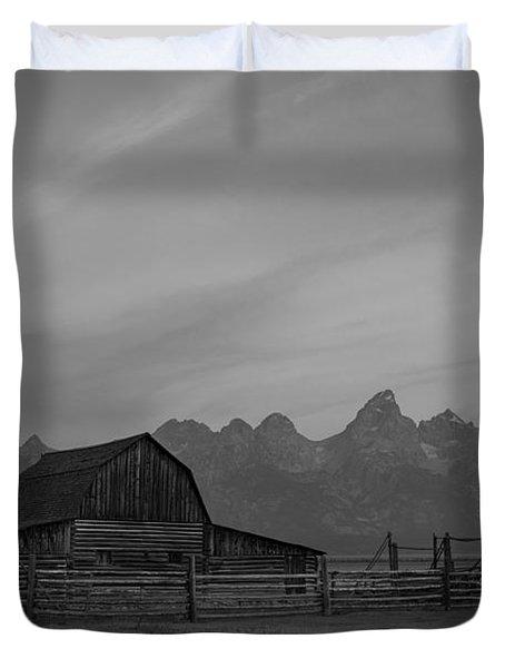 Moulton Ranch Sunrise At Mormon Row  Duvet Cover