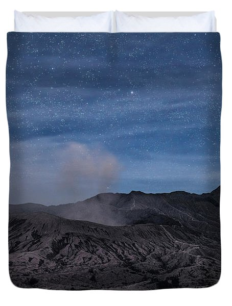 Mount Bromo With Stars - Java Duvet Cover