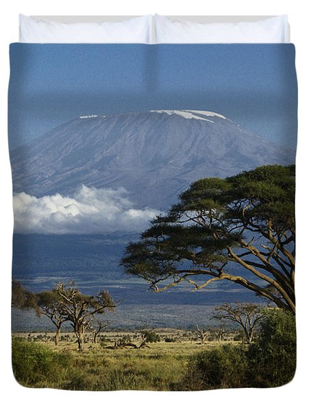 Mount Kilimanjaro Duvet Cover by Michele Burgess