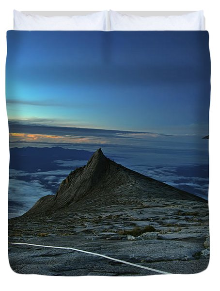 Mount Kinabalu Duvet Cover by MotHaiBaPhoto Prints