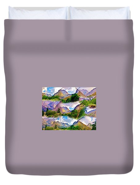 Mountain Collage Duvet Cover