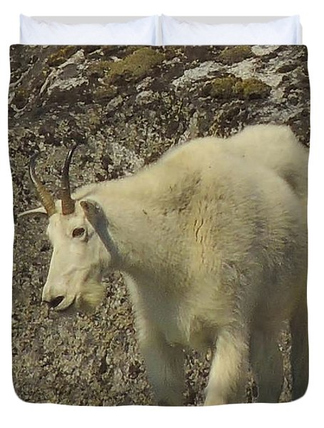 Mountain Goat Ewe Duvet Cover