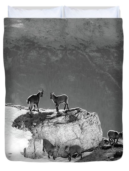 Mountain Goats Duvet Cover