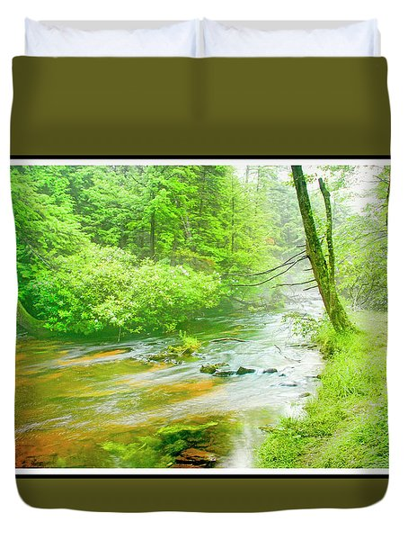 Mountain Stream, Pocono Mountains, Pennsylvania Duvet Cover