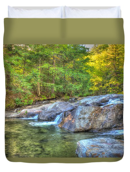 Mountain Stream Waterfalls Duvet Cover