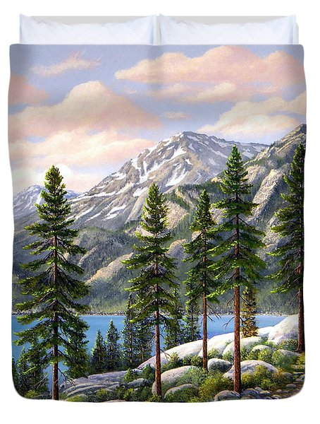 Mountain Trail Duvet Cover