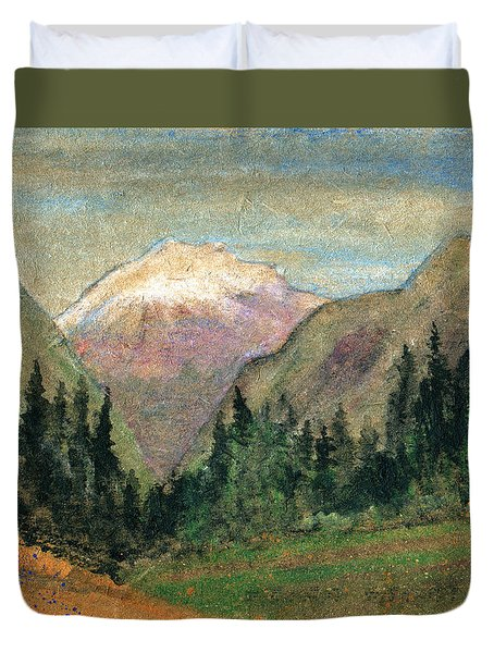 Mountain View Duvet Cover by R Kyllo