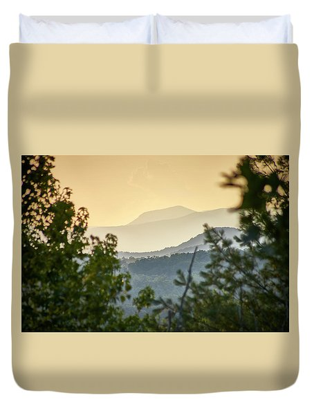 Mountains In The Distance Duvet Cover