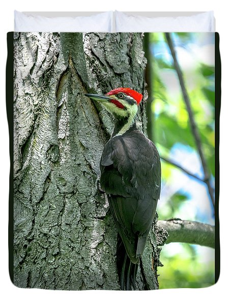 Mr. Pileated Woodpecker Duvet Cover