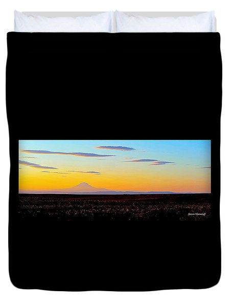 Mt. Adams Sunset Duvet Cover