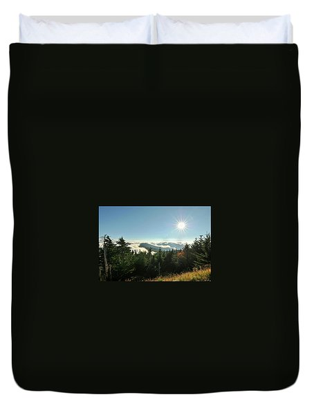 Mt Mitchell Landscape Duvet Cover